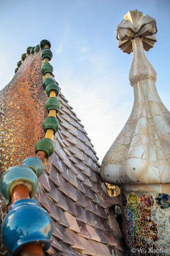 Details of the roof of Casa Batllo