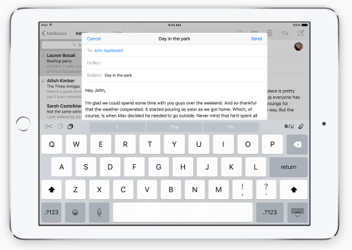 iOS 9 Keyboard - Image from Apple