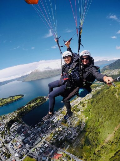 Paragliding over Queenstown