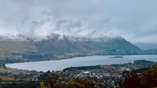 View of Wanaka from Mt. Iron
