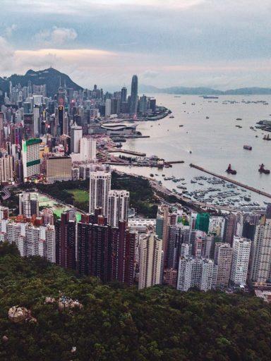 Overlooking Causeway Bay.