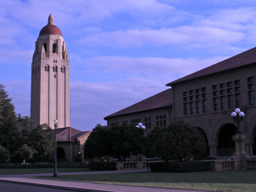 Stanford Tower and Courtyard
