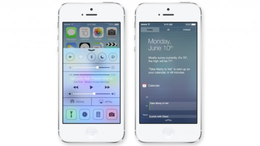 New Control Center & Notification Center in iOS 7