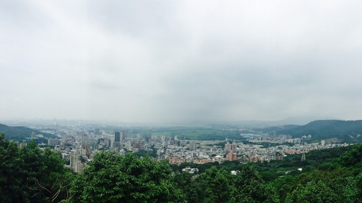 A view of Beitou district from Yangmingshan